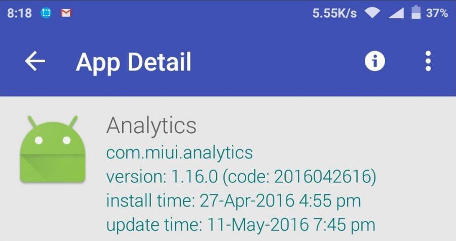 Analytics Xiaomi